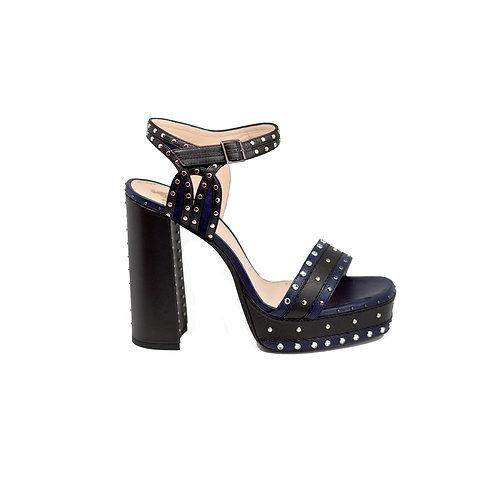 LANVIN Embellished Platform Sandals, Size 38
