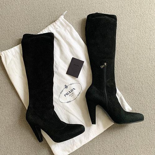 PRADA suede Boots, Size 37.5 EU