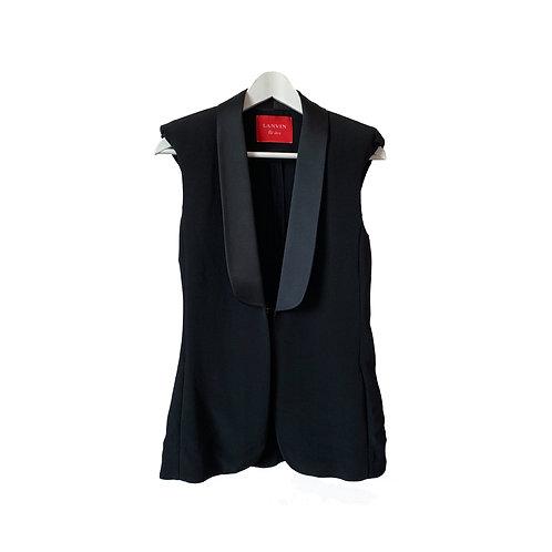 LANVIN Sleeveles Jacket, Size 36FR