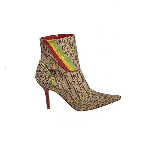 DIOR Cloth Ankle Boots, Size 39.5EU