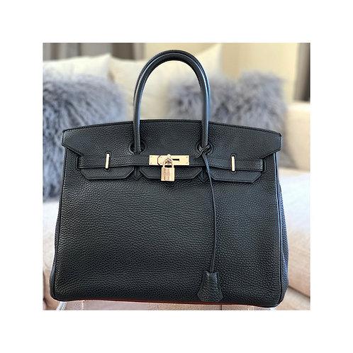Hermes Birkin Black 35 Togo Bag