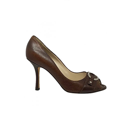 CHRISTIAN DIOR leather Heels, Size 39.5 EU