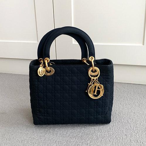 DIOR Lady Dior cloth Handbag