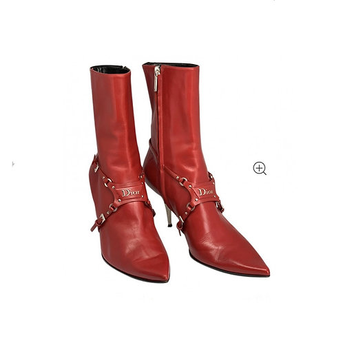 DIOR Leather Ankle Boots Size 40 EU