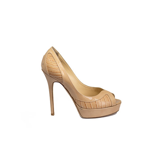 JIMMY CHOO Peep toe Pumps, Size 36.5 EU