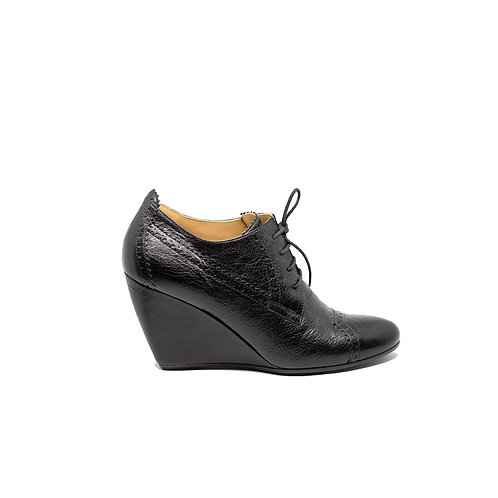BALENCIAGA Leather lace up Booties, Size 39