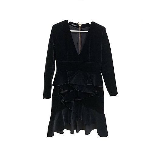 BALMAIN Velvet Dress Size 40 FR