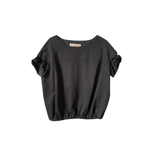 MARNI black cotton Top, Size 38IT