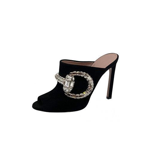 Gucci Jewelled Suede Mules, Size 36 EU/3UK