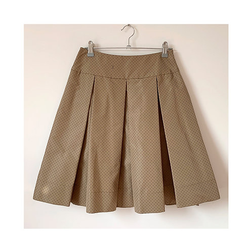 PRADA silk mid-length skirt, Size 38IT