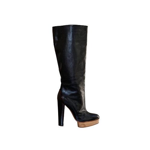 MARNI Leather Platform Boots, Size 38 EU