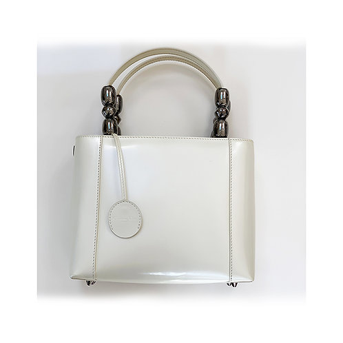 CHRISTIAN DIOR Maris Pearl Vintage Patent Leather Tote