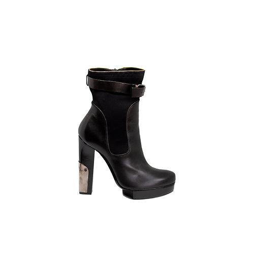 LANVIN Combo Platform Ankle Boots, Size 37 EU