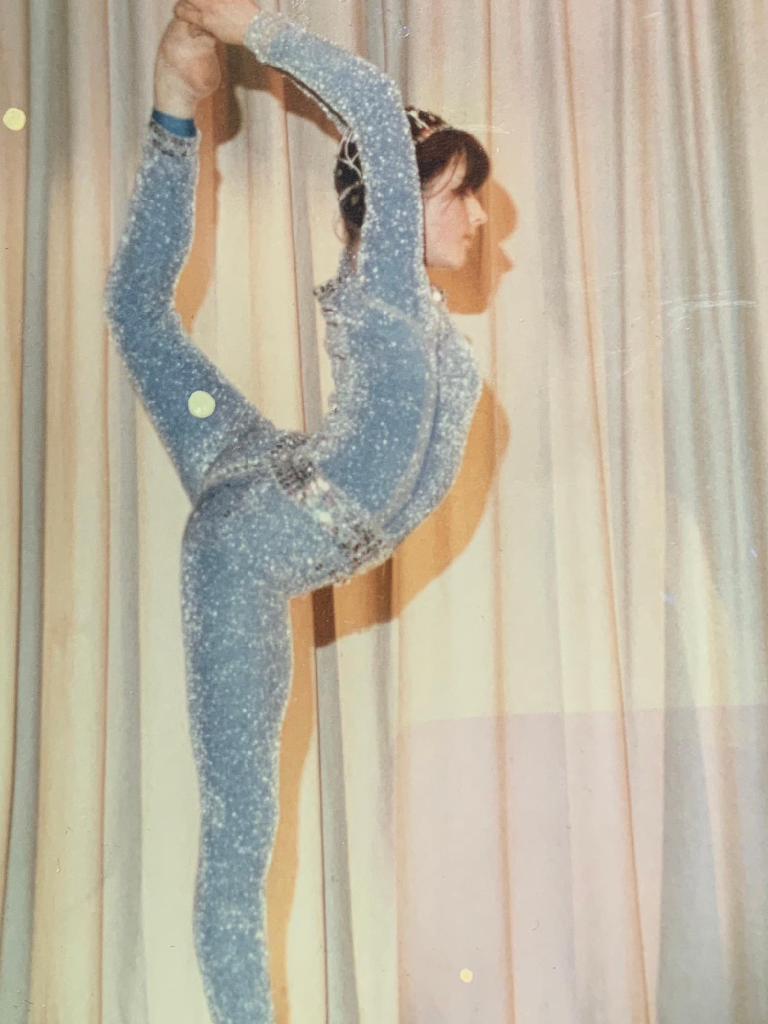 'Natarajasana' with a little bit of glitter. C.1980