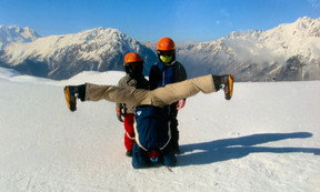 Balancing on my head was always so much easier than balacing on a snowboard