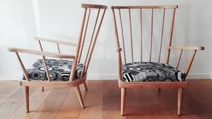 Paire de fauteuils Eventail
