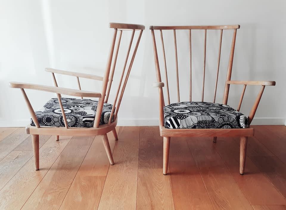 12 Paire de fauteuils Eventail Marrimeko