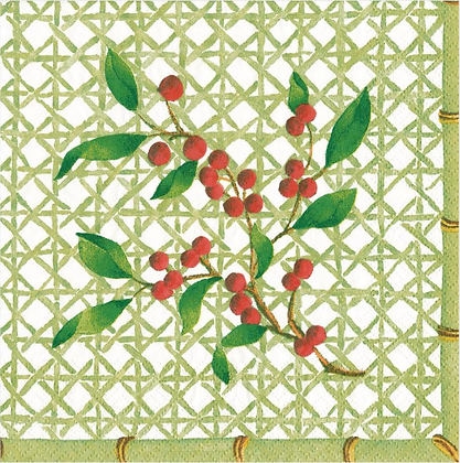 Serviette Holly on trellis