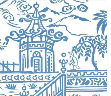Serviette Blue Pagoda