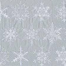 Serviette Falling Snow Silver