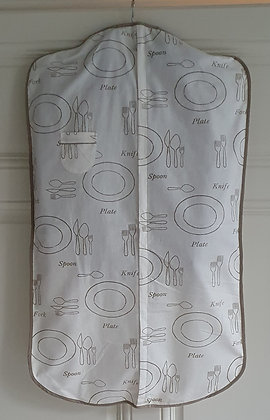 Housse vêtement - Écru / Couverts