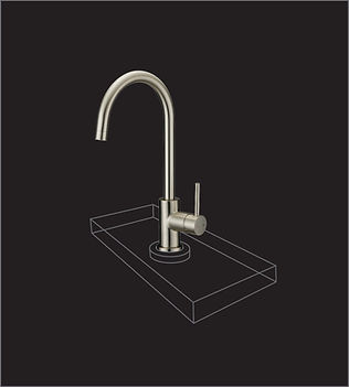 Diamond-clear acrylic faucet displays that make your products the star of the showroom.