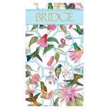 Carnet de Bridge Hummingbird Trellis