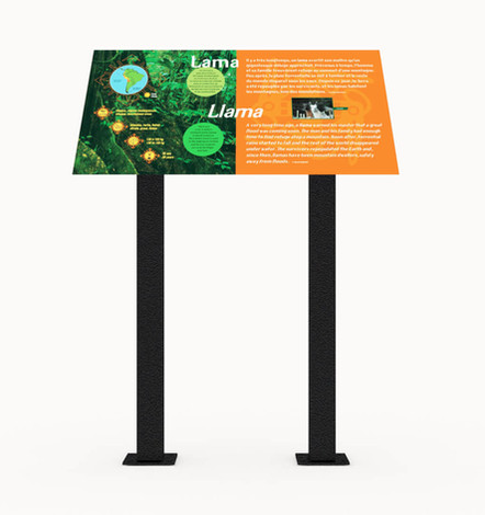 ALTO™ double-pedestal mounts for signs and panels.
