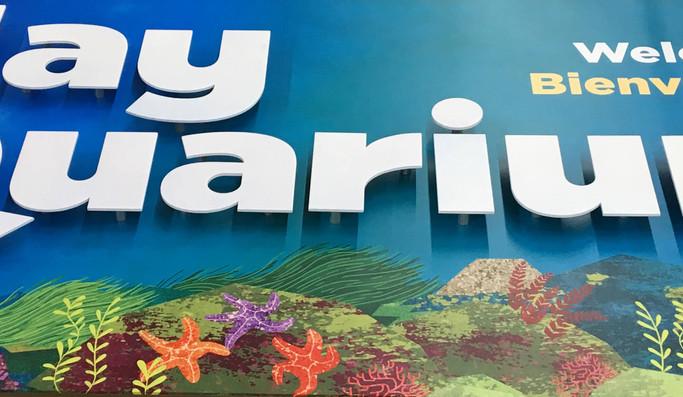 ALTO Aluminum Fade-free wayfinding signs for Aquariums.