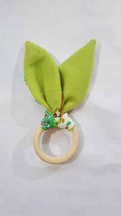 Hochet Hibou / Plaid vert