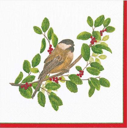 Serviette Winter Birds