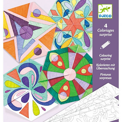 Coloriage Surprise - Mandala Rosace