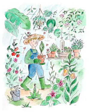 Cartes postales - Jules le jardinier