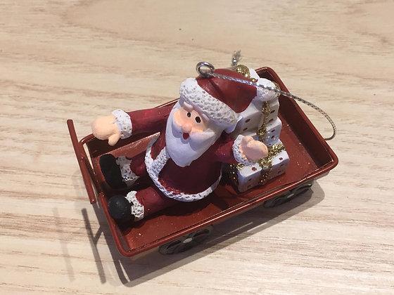 Décoration à suspendre - Père Noël + Bonhomme de neige