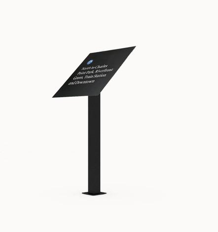 ALTO™ single pedestal sign and panel mount.