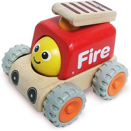 Camion de pompier mini en bois