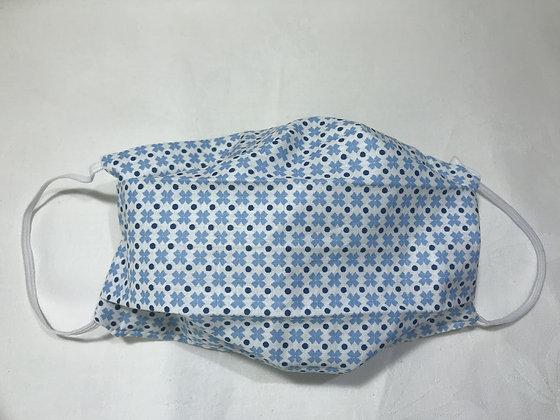 Masque Homme - Géométrique bleu/blanc