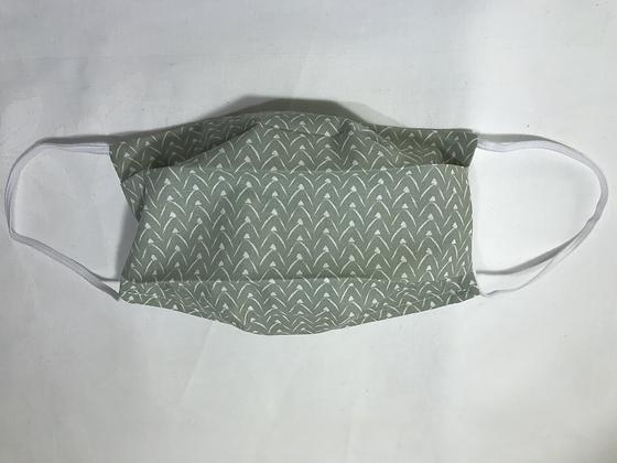 Masque Homme - Géométrique Vert/blanc