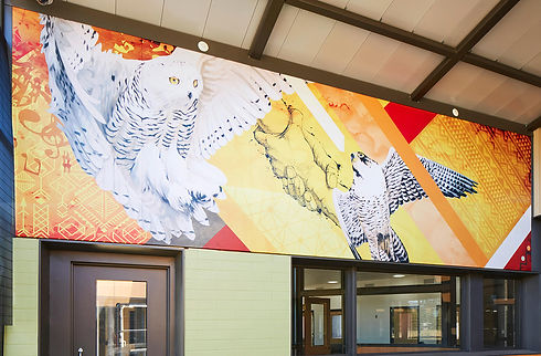 ALTO Aluminum Exterior Mural with durable and resistant to high-humid environments