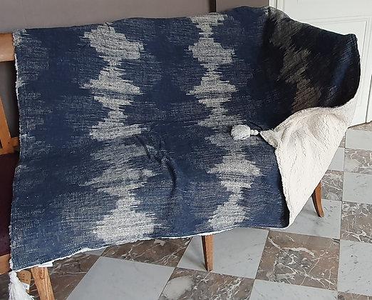 Plaid Sherpa Bleu 130x160cm