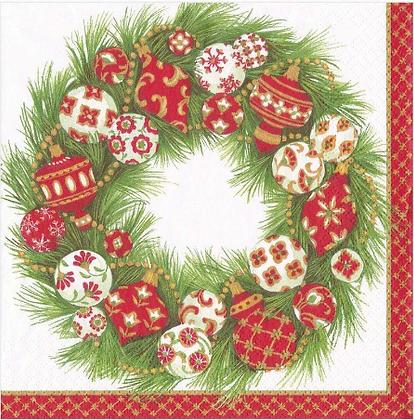 Serviette Ornament Wreath