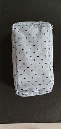 Petite trousse doublée pour sac - Ronds bleu