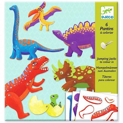 Pantins à Colorier - Dino