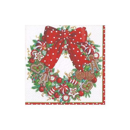 Serviette Candy Wreath