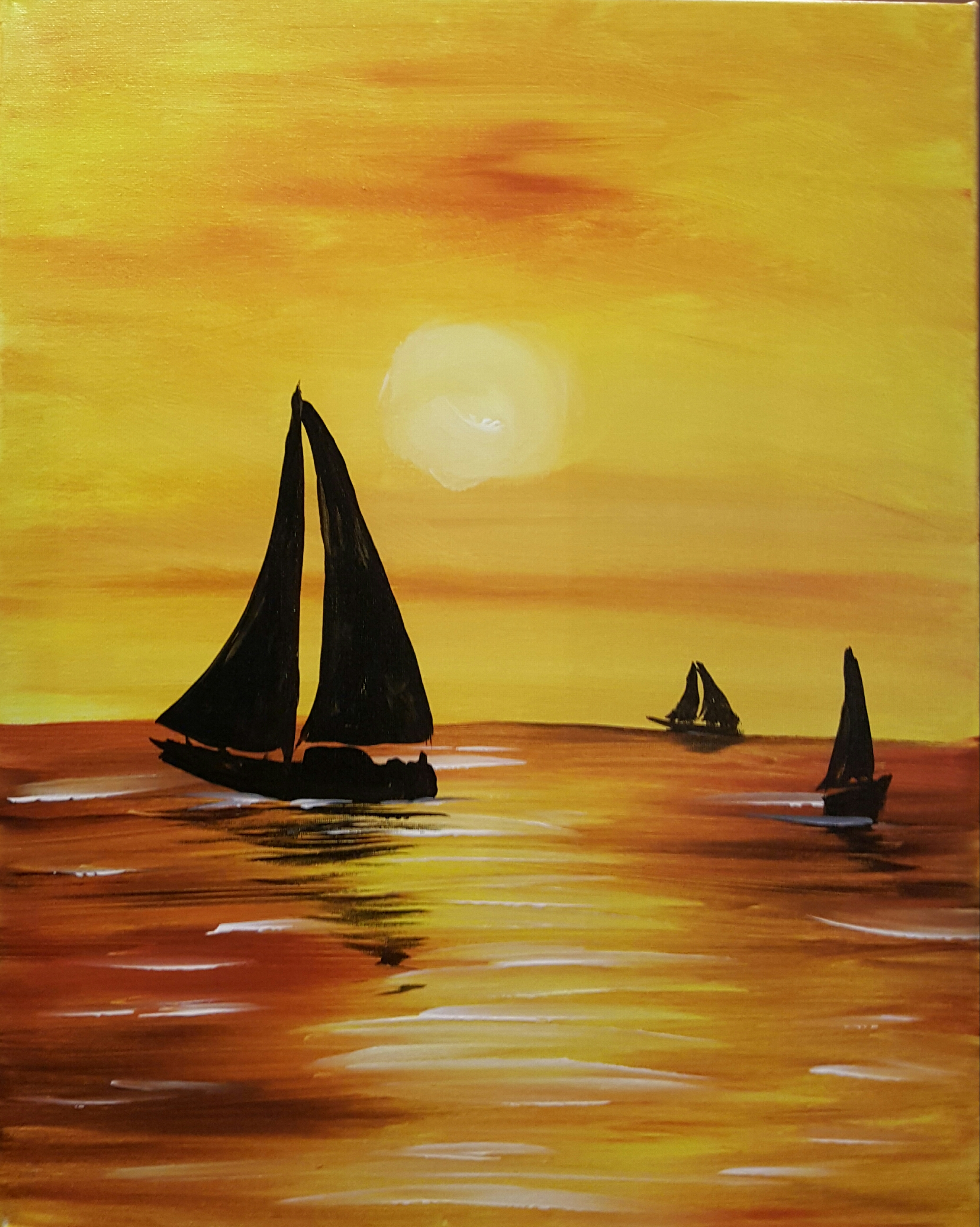 Sail Boats of the evening