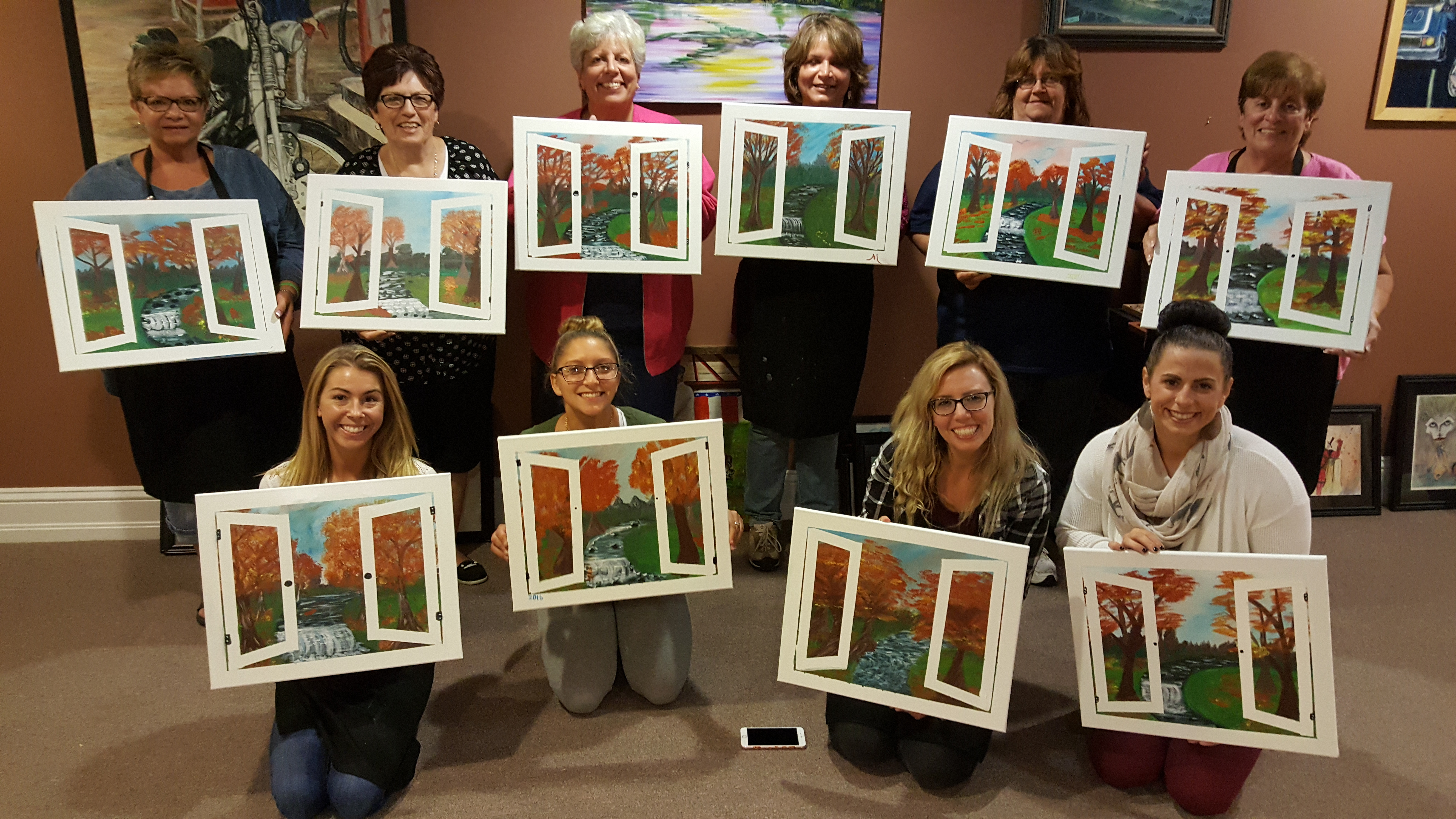 Fall Window at Large Artist Workshop