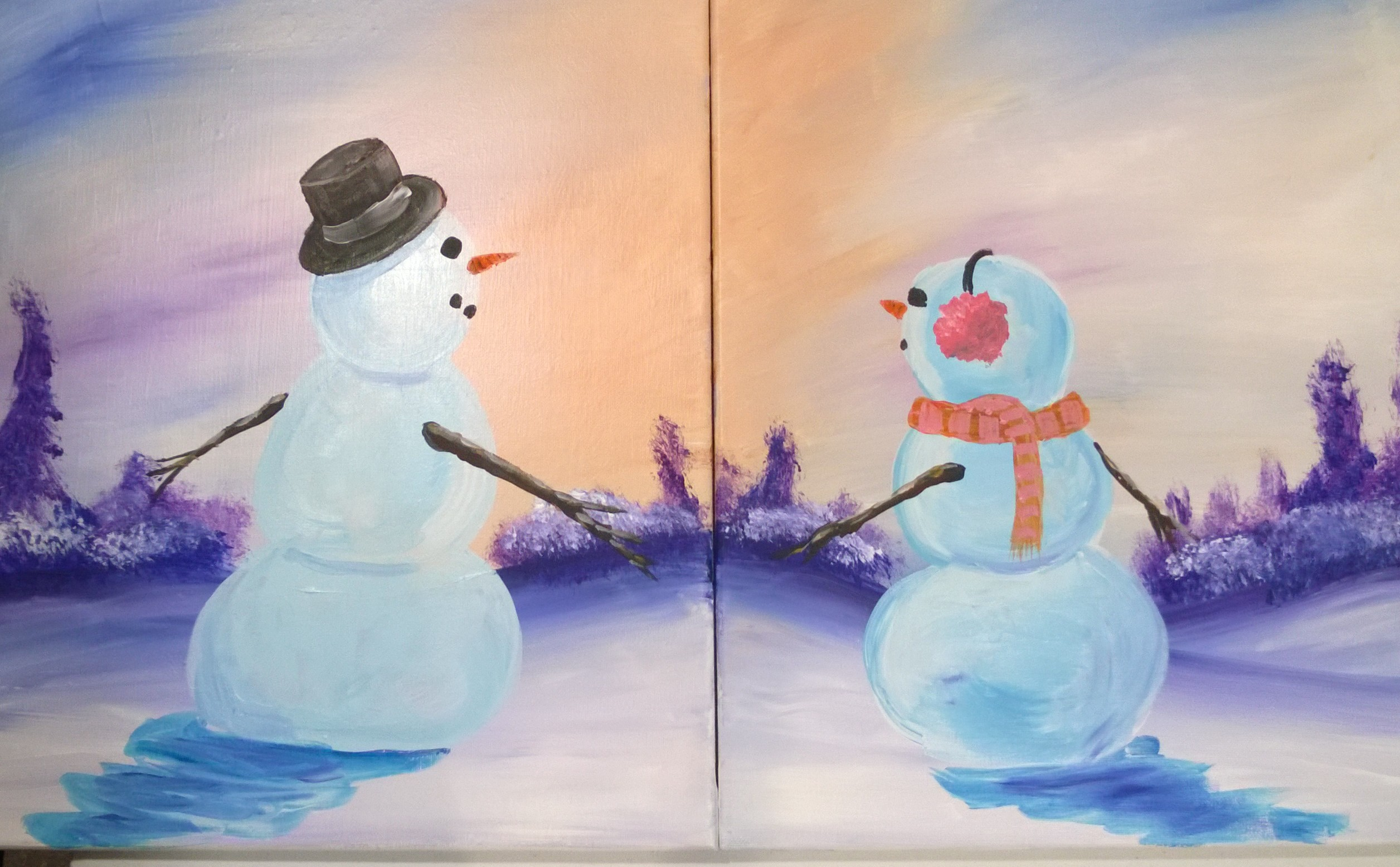 Couples Snow people