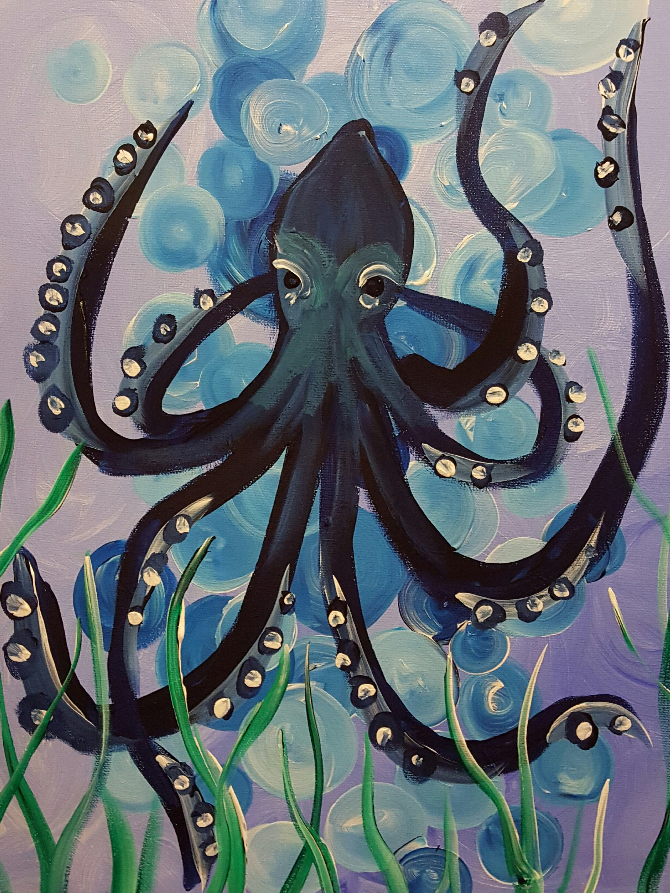 Deep Blue Octopus