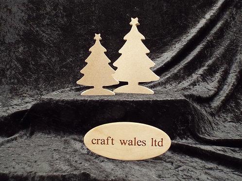 Christmas Tree Shape MDF 200mm & 150mm Freestanding