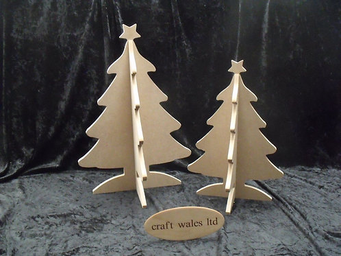 Christmas Tree MDF Shape Wooden Freestanding